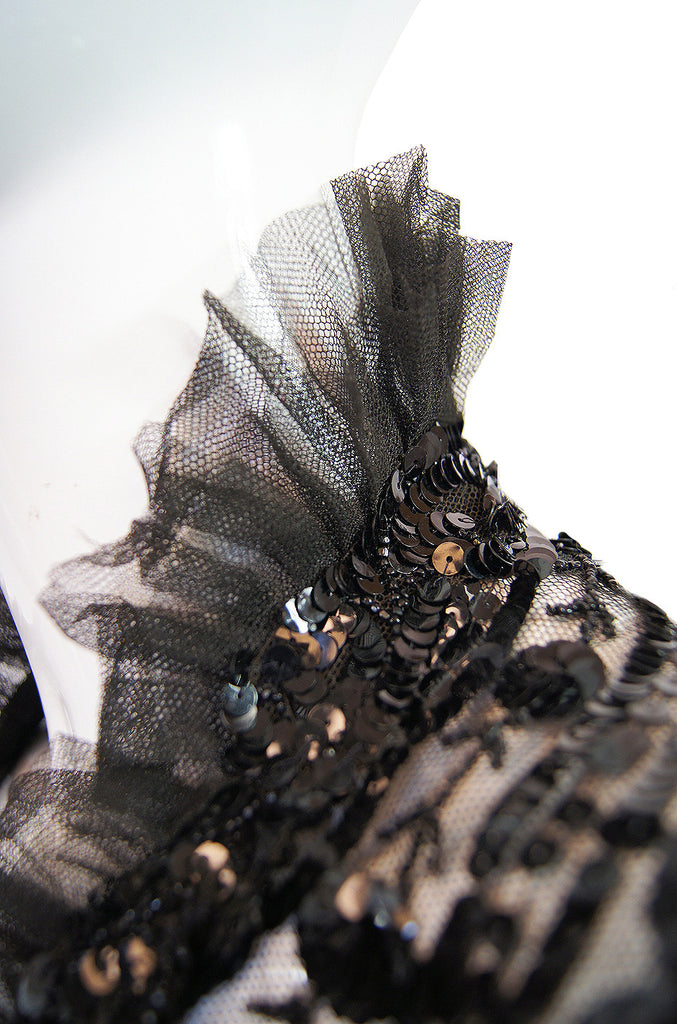 Edwardian Sequin on Netting Capelet