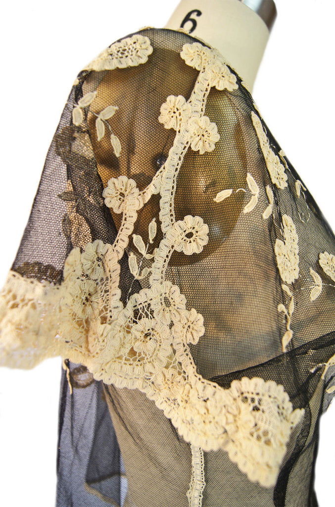 Edwardian Applique lace Netted Top