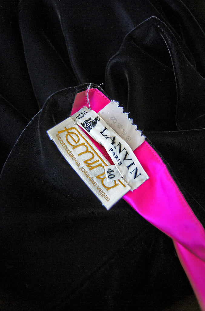Late 1970s Hot Pink & Velvet Lanvin