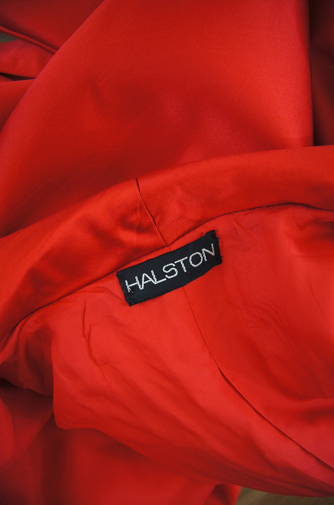 1970s Rare Silk Halston Evening Jacket