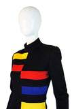 A/W 1989 Patrick Kelly Color Block Dress