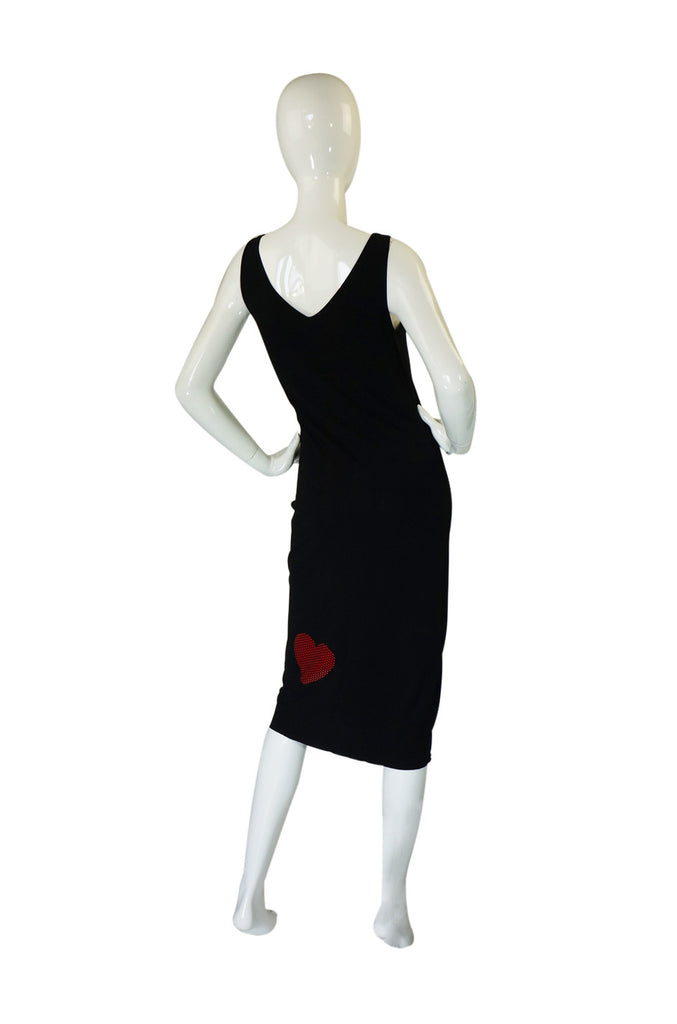 1990s Moschino Heart & Sequin Dress