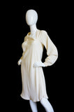Spring 1977 Spiral Cut Halston Silk Dress