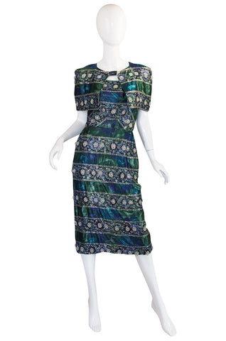 1950s Spectacular Beaded Bonwit Teller Dress