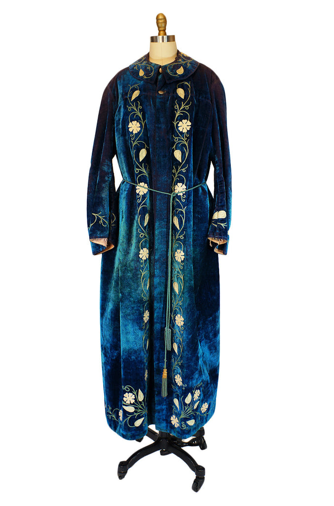 Edwardian Arts & Crafts Velvet Coat