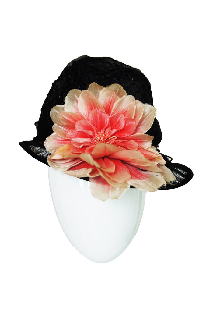 Wonderful Edwardian Net Hat with Flower