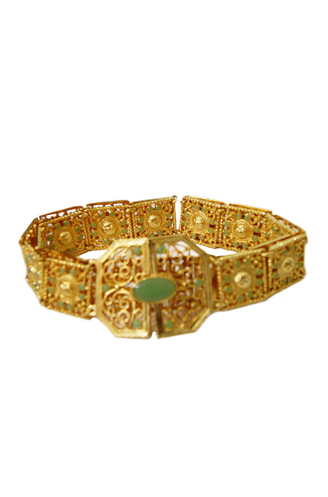 1960s Gilt & Faux Jade Belt