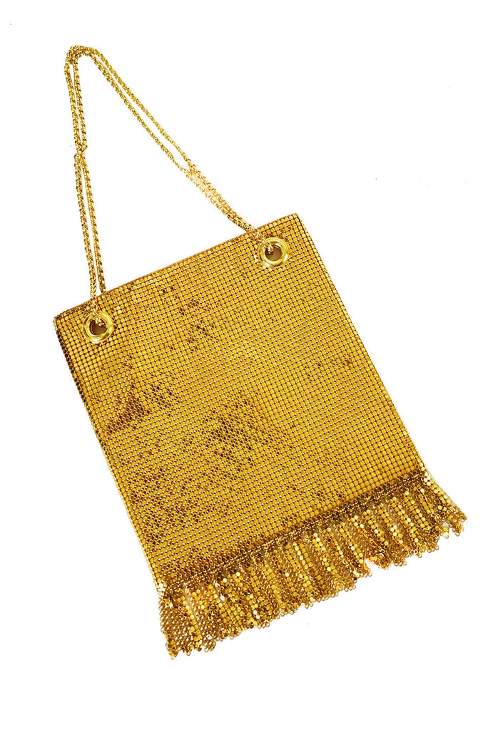 1950s Gold Whiting & Davis Mesh Bag