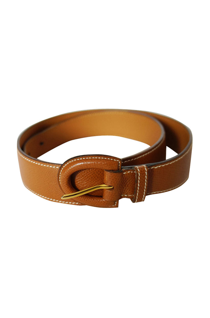 1993 Auth Hermes Brown Leather Belt