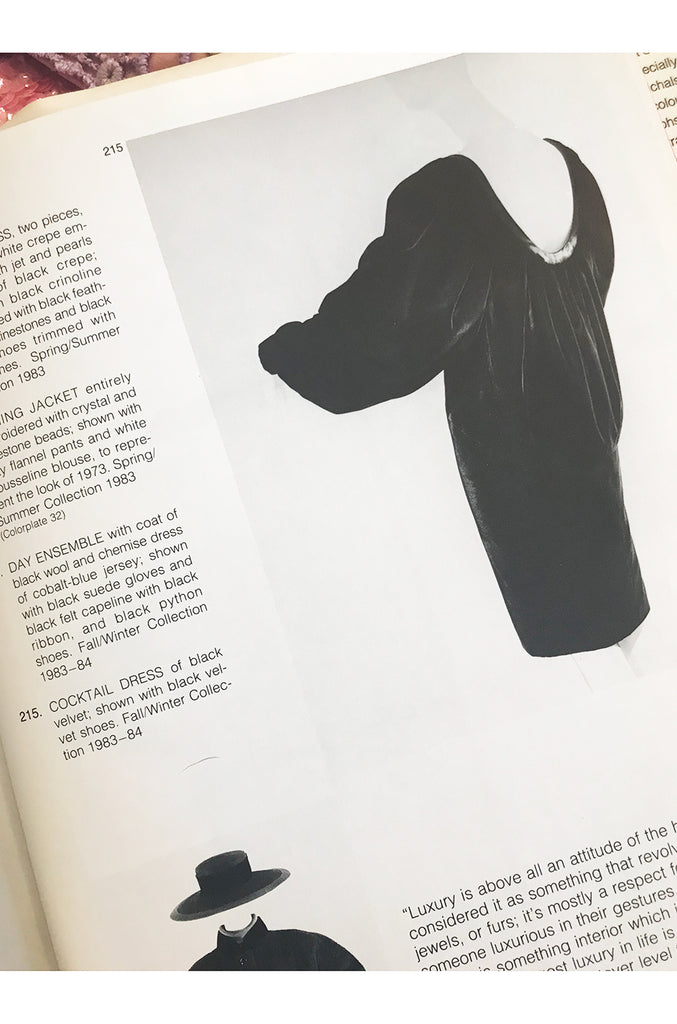 Fall/Winter 1983-84 Yves Saint Laurent Patron Haute Couture Silk Sack Dress