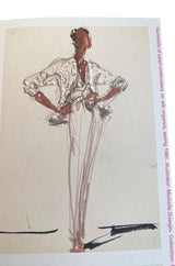 c1981 Halston Couture Documanted Silver Beaded & Pearl Jacket