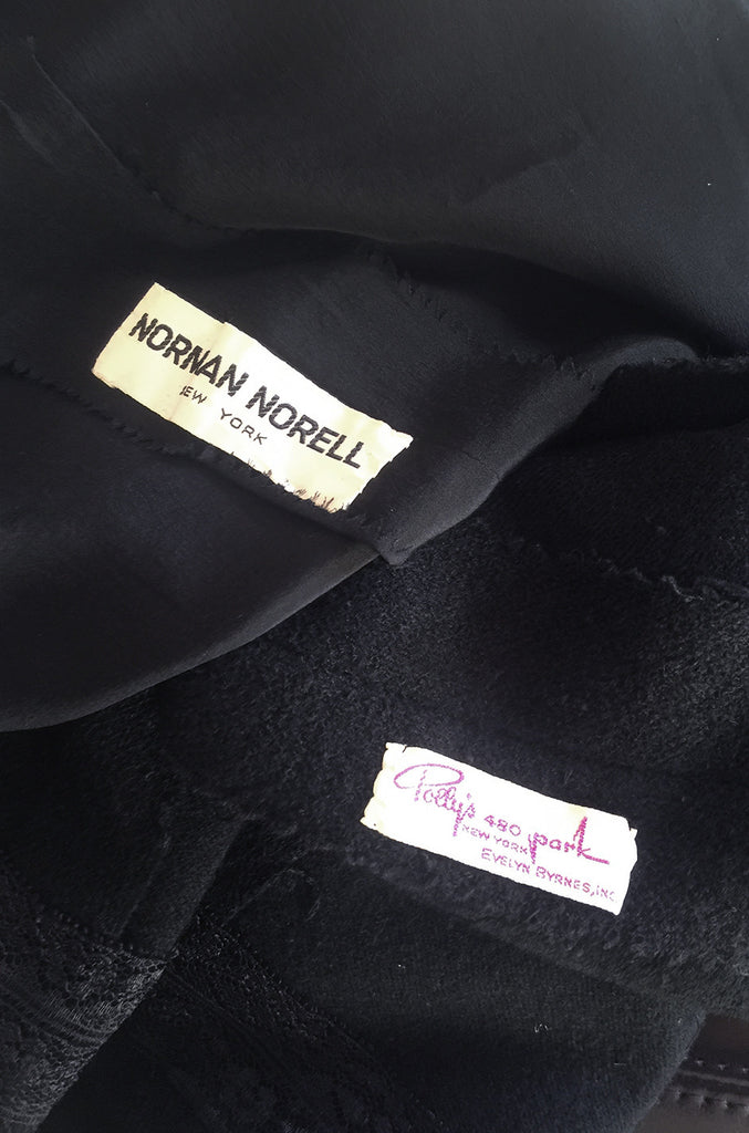 1960s Norman Norell Wool Crepe Back Button Shift Dress