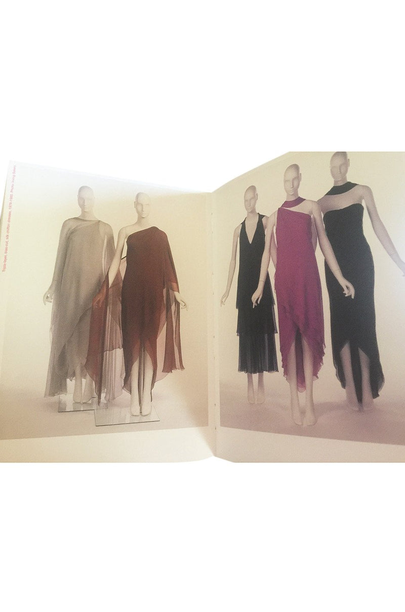 1973 Halston Couture Layered One Shoulder Silk Chiffon Multi Way Dress