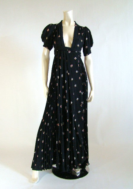 1970s Couture Ossie Wrap Dress