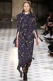 Fall 2016 Vetements Blue Floral Jersey Runway Dress Look 41