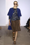 Spring 2006 Marni Blue & Grey Cotton Print Baby Doll Mini Dress