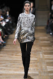 F/W 2013 Balmain Gold Print Lame Mini Dress