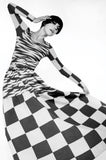 1971 Checked Raspberry Rudi Gernreich Maxi Dress