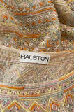 Spring 1981 Halston Couture Runway Hand Beaded Pastel Color Dress