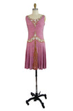 1920s French Label Beaded Flapper Dress