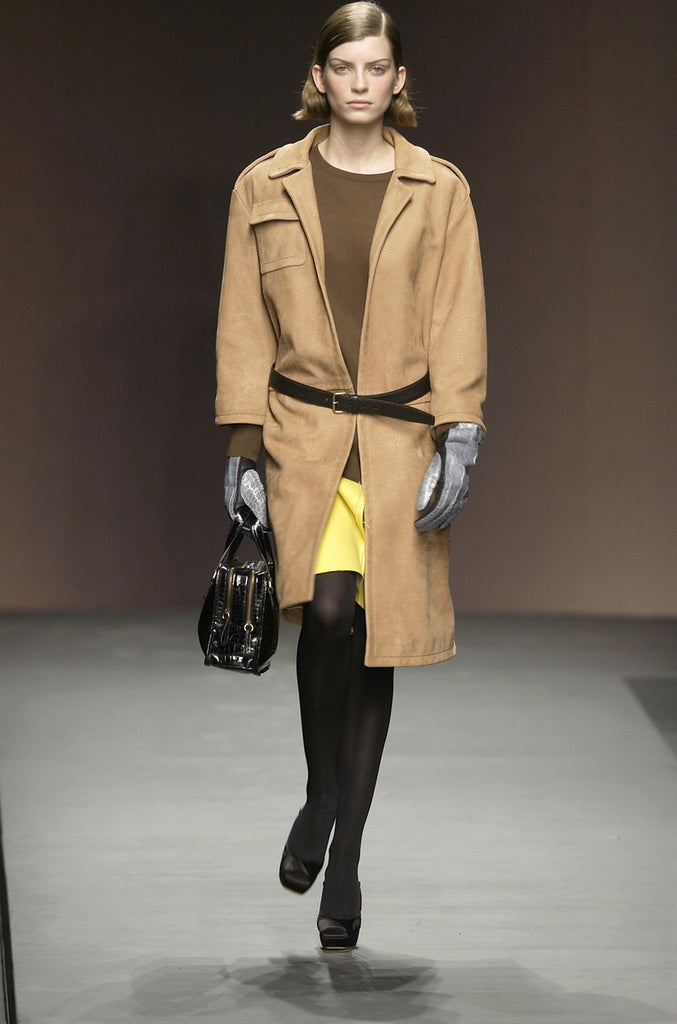 Fall 2003 Runway Ostrich Print Prada Leather Coat