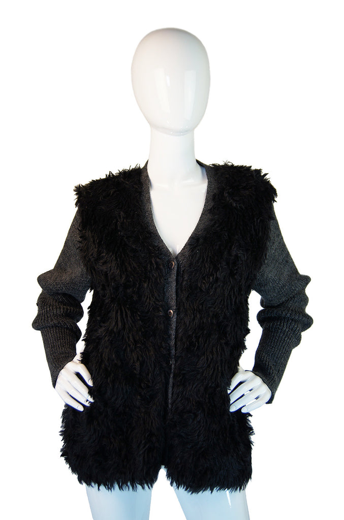 Fall 2007 RTW Prada Faux Fur Cardigan