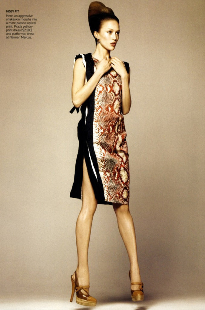 S/S 2009 Prada Runway Snakeskin Print Open Side Dress