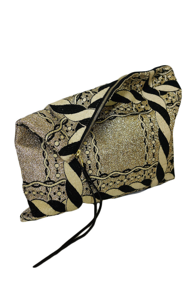 Vintage Gold Lame Brocade Clutch