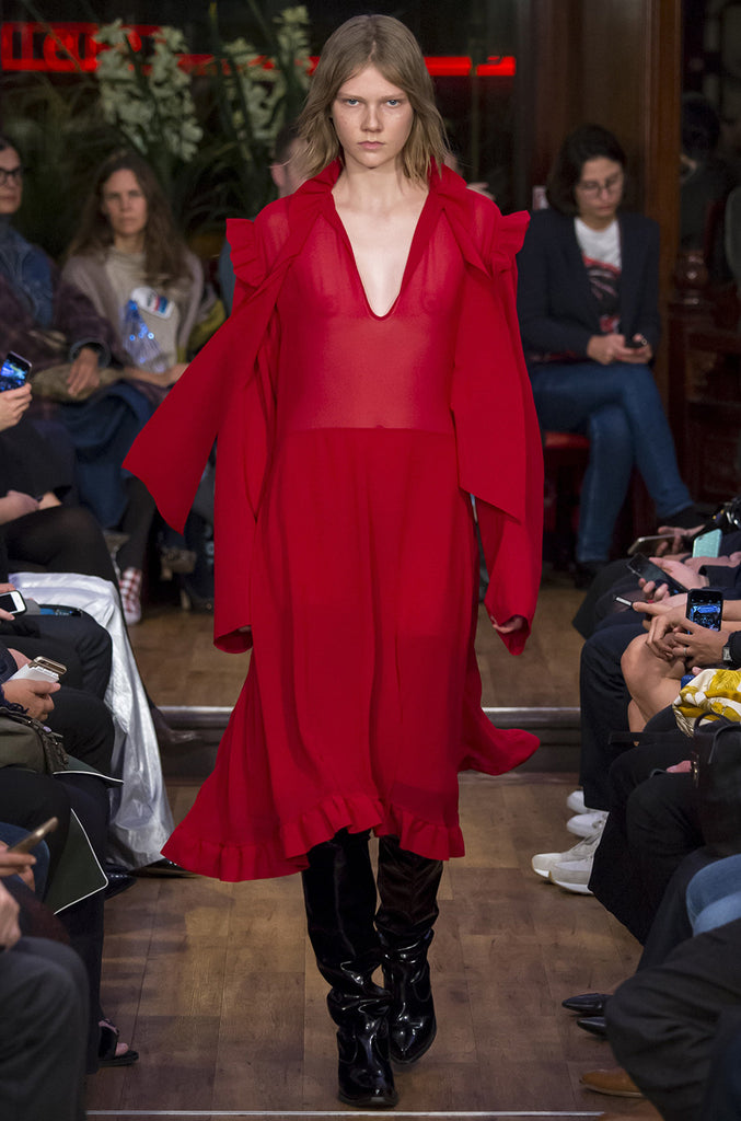 S/S 2016 Vetements Runway Over-Sized Red Dress Unworn w Tags