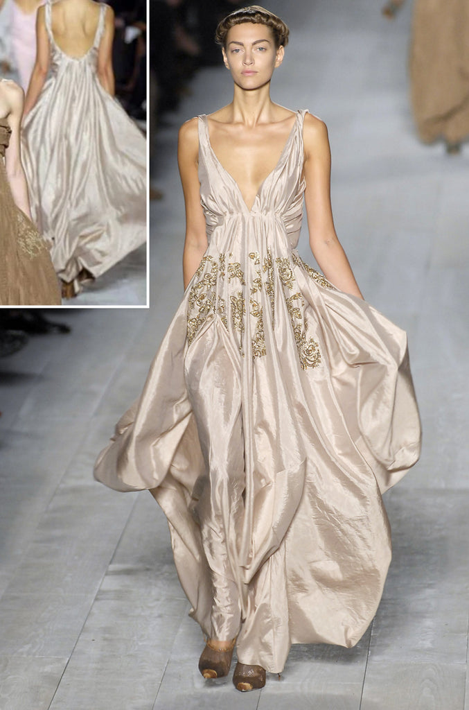 Spring 2007 John Galliano for Christian Dior Pale Blue Silk Voluminous Dress