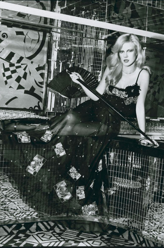 Spring 1974 Chloe by Karl Lagerfeld Sequin Dress Set as Seen on Sylvie Vartan