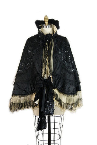 Sequin & Lace Victorian Cape
