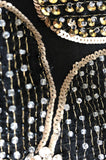 c.1978 Unlabeled Marc Bohan for Christian Dior Haute Couture Lesage Beaded Top