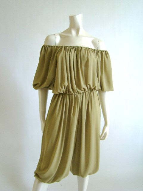 1970s Draped Harem Jumpsuit