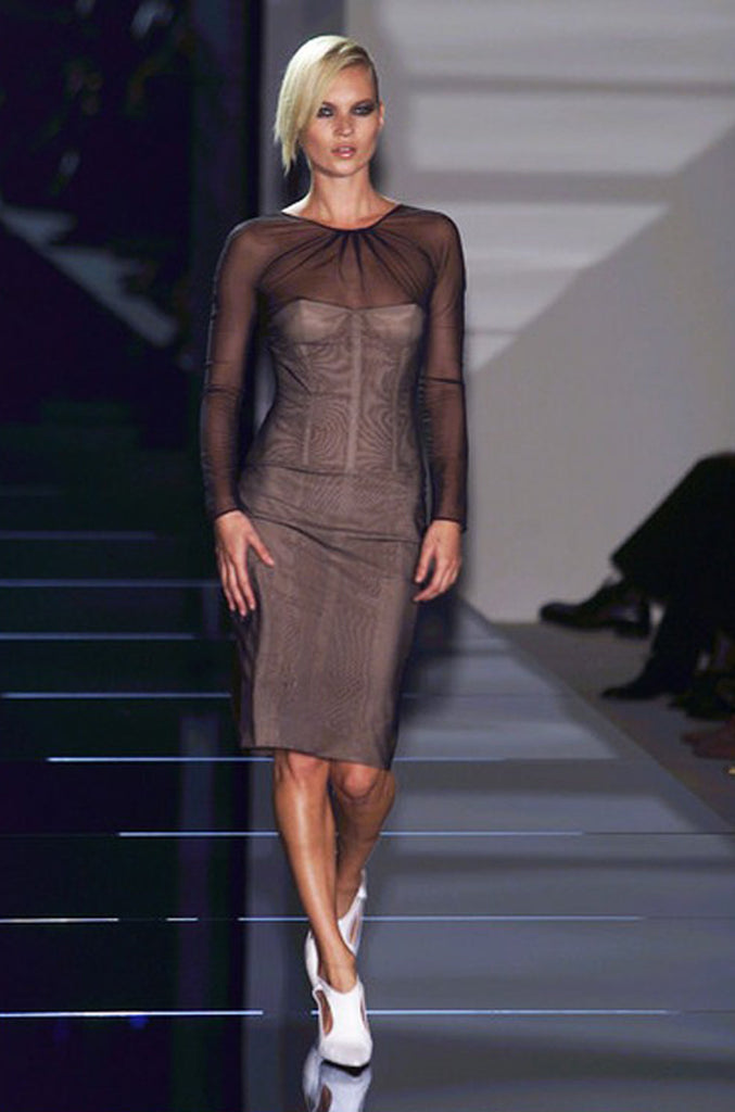 Spring 2001 Tom Ford for Gucci Black Bustier Dress