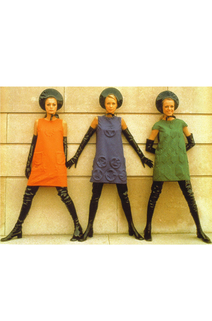 c1968 Pierre Cardin Couture Shift Dress