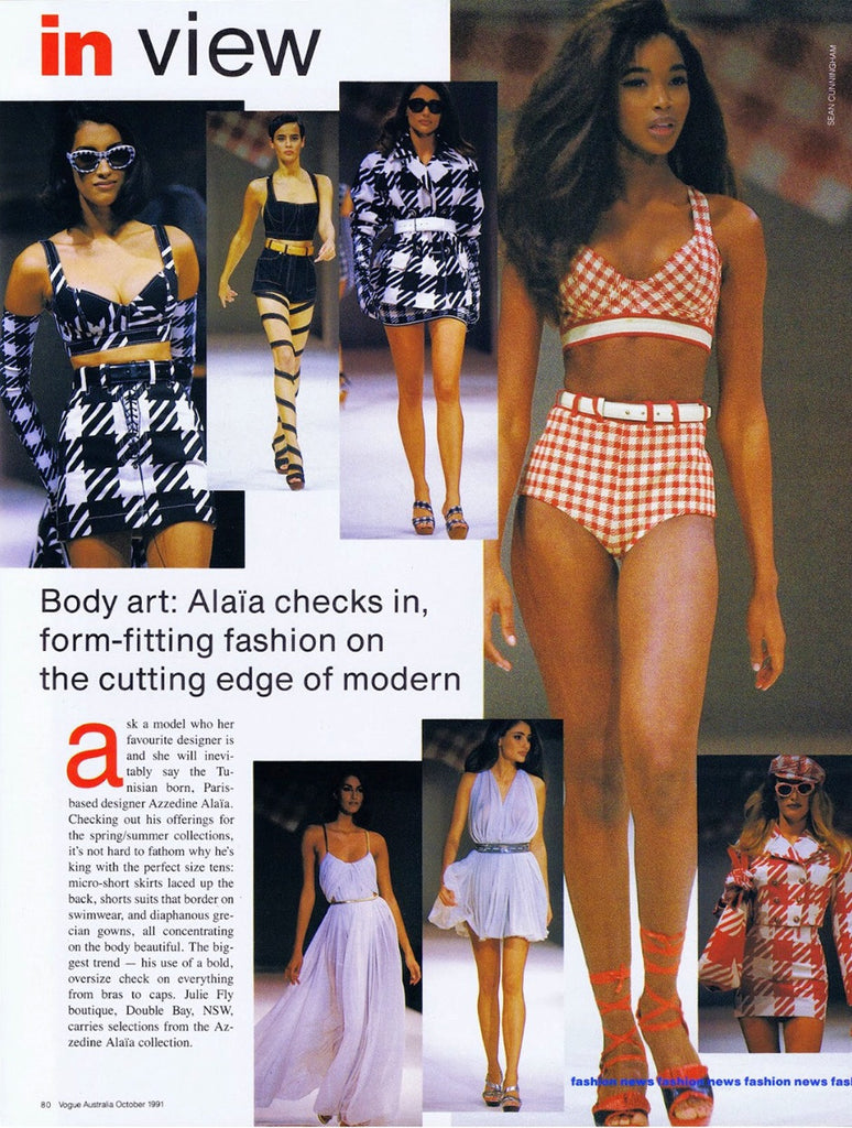 "Spring 1991 Museum Held Alaia 'Tati"" Short & Bra Top"