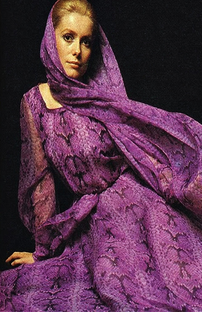 1971 Givenchy Haute Couture Silk Dress