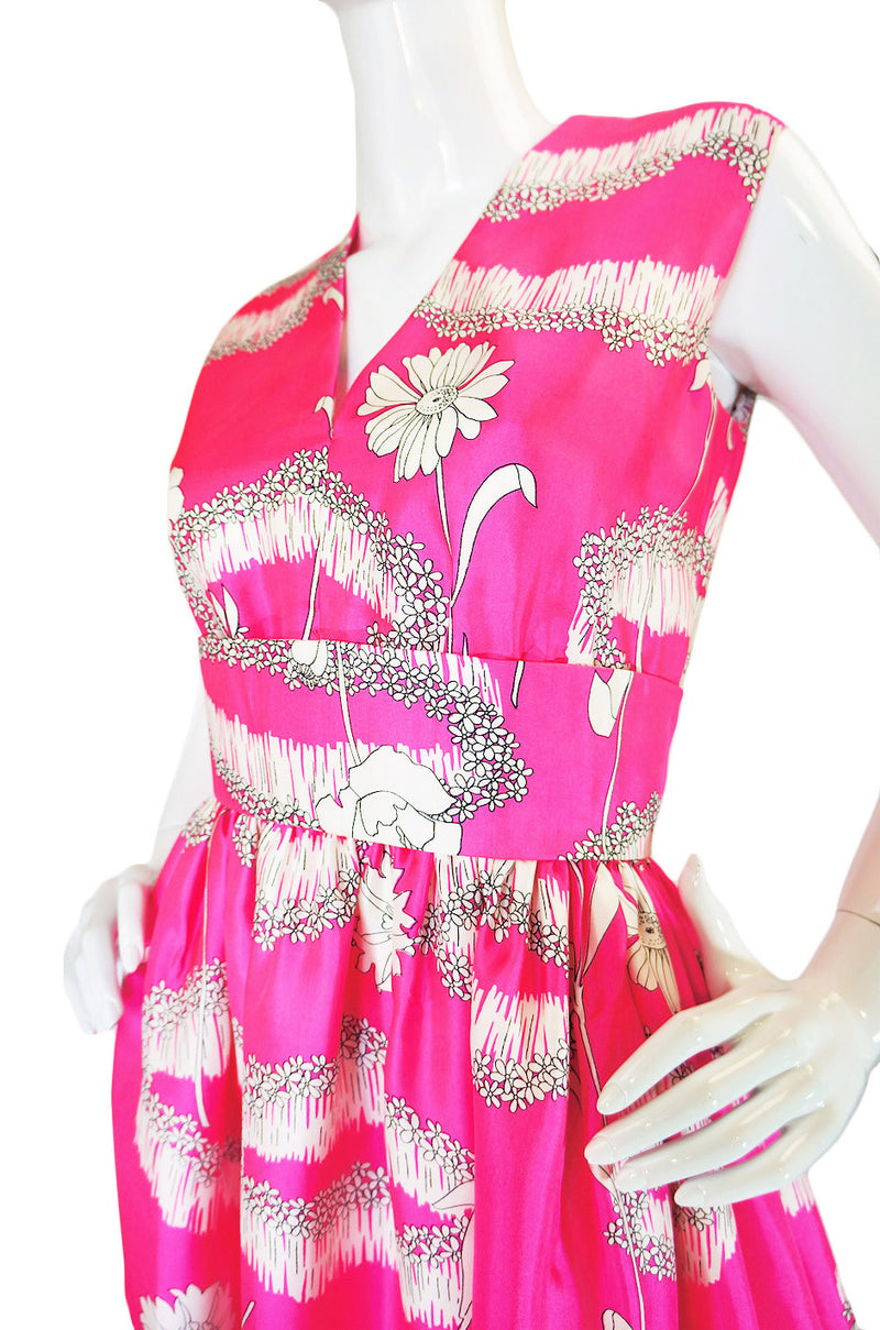 1960s Silk Harvey Berin Pink Gown
