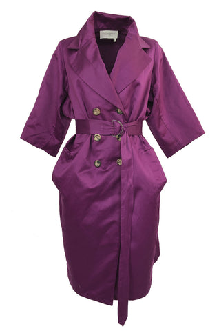 Resort 2010 Stefano Pilati for Yves Saint Laurent Purple Cotton Trench Coat