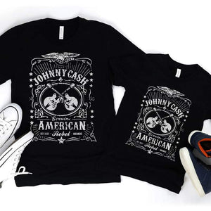 Johnny Cash Mommy and Me Shirts