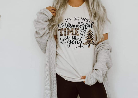 Most Wonderful Time of the Year Leopard Christmas Shirt