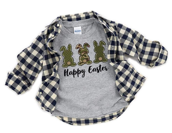 Happy Easter Camo Boy Kids Easter Shirts