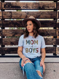 Boho Leopard Mom Of Boys Shirt