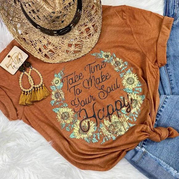 Take Time To Make Your Soul Happy Hippie Shirt