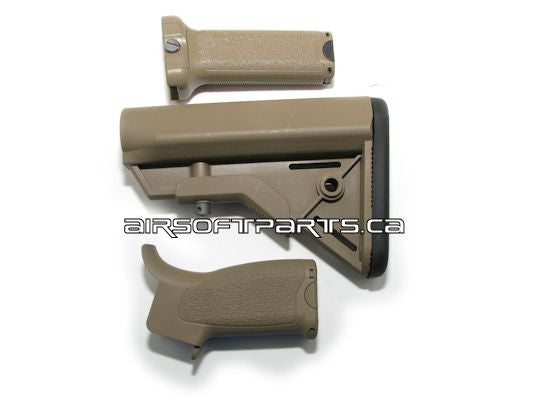 Dytac BR Cerakote SOPMOD M4 Stock Set with Grips - Tan - Niagara Quartermaster