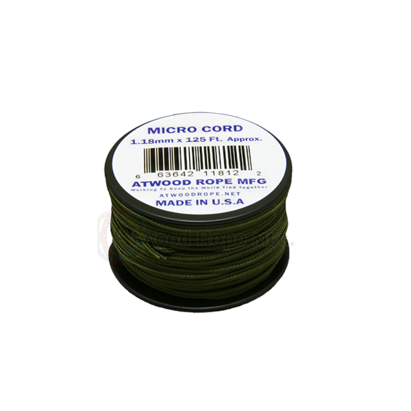 Atwood Rope 1.18mm Braided Microcord - OD - Niagara Quartermaster