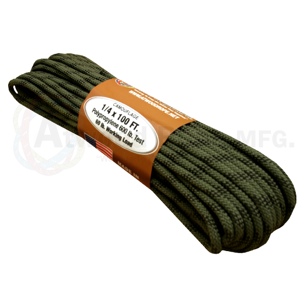 "Atwood MFG 1/4"" 100ft Rope - Camo - Niagara Quartermaster"