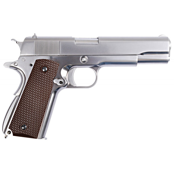 WE 1911 Chrome GBBP - Niagara Quartermaster