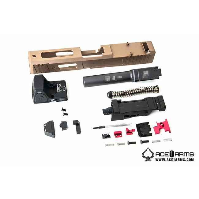 Ace 1 Arms Salient Arms G19 Tier 1 RMR Slide Set - Flat Dark Earth
